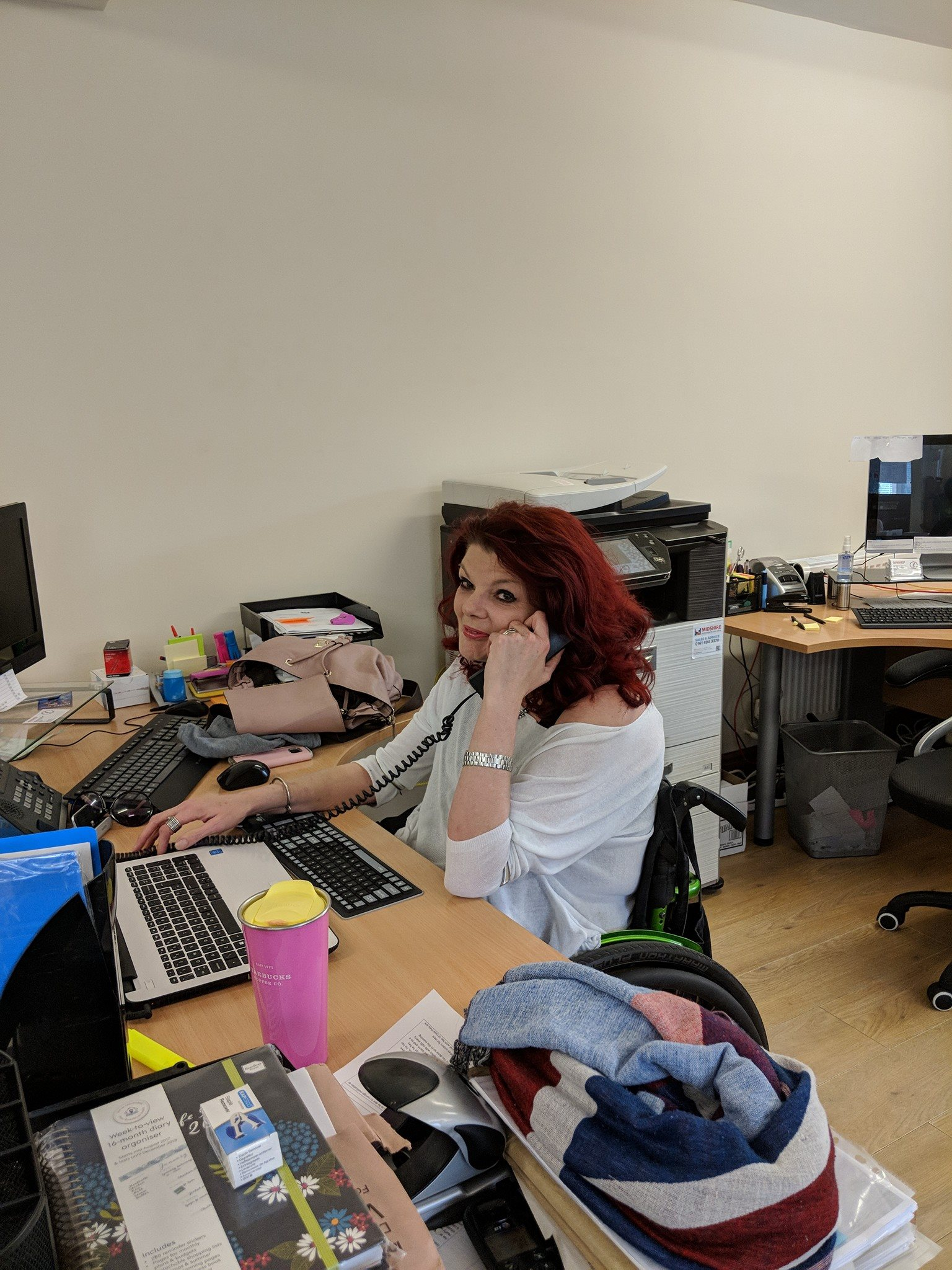 Our lovely Nicky has finally made it back to the office after a long period of illness, it's so good to have her back in to boss us around!