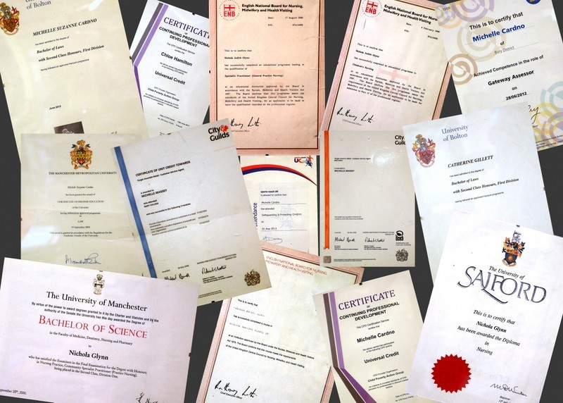 A selection of our Legal Certificates